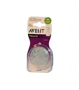 AVENT TETT NATURAL FLU LENT 2P